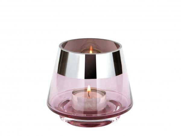 Fink Living Teelichthalter Jona - 9 cm hoch, Hellrosé