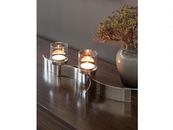 Fink Living Maxi-Tischleuchter Melody mit Glas - 2-flammig, Ambiente