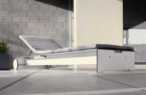 Moderne Sonnenliege Riva - conmoto Design pur - Loft Terrasse Bauhaus