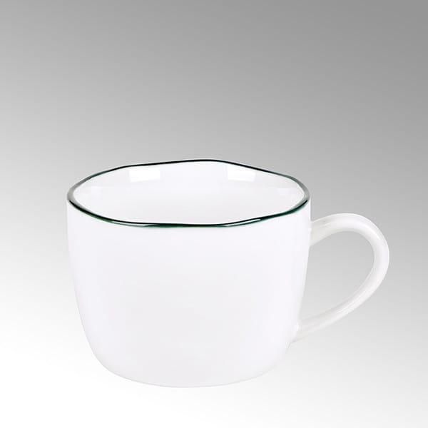 Lambert Kaffeetasse Piana Weiß mit basaltgrauen Rand