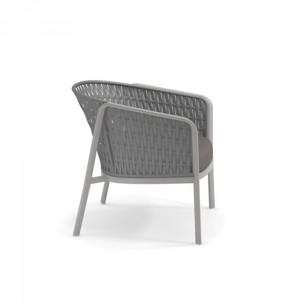emu Carousel Loungesessel - 73-18 Zement - Grau Melange - seitlich