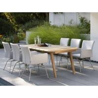 Stern Teak-Gartentisch 220 x 100 cm - Ambiente, Outdoor