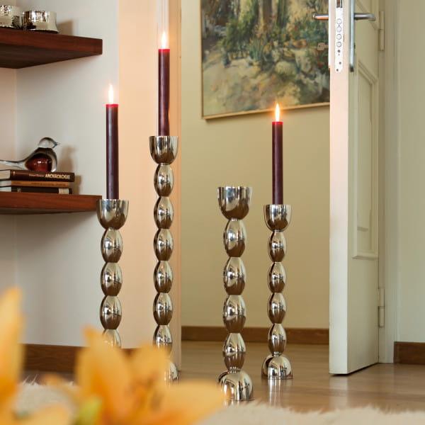 Lambert Kerzenleuchter Brancusi Metall poliert - 3 Größen