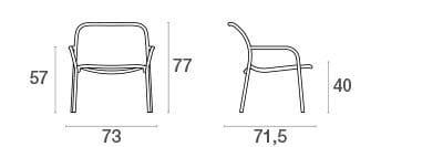 emu Outdoor Loungesessel Yard (stapelbar) - Maße