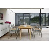 Stern Teak-Gartentisch 220 x 100 cm - Ambiente