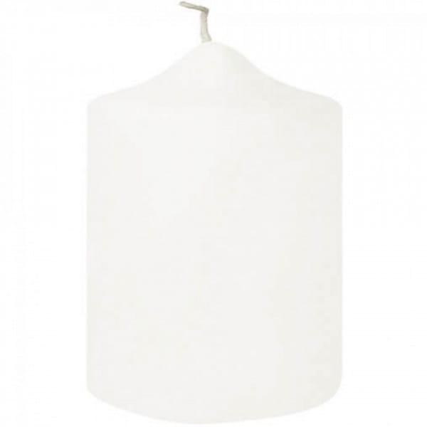 Fink Living Stumpenkerze Candle - 10 cm hoch, Weiß getaucht