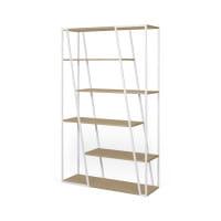 Temahome Bücherregal Albi - Eiche / Weiß, Rückseite
