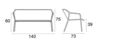 emu Darwin Loungsessel -  Maße