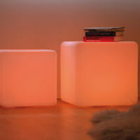 Jan Kurtz Polyethylen LED Würfel Light inkl. Fernbedienung
