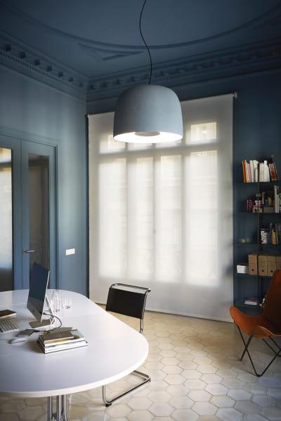 marset Pendelleuchte LED Djembe Himmelblau Ambiente Zimmer