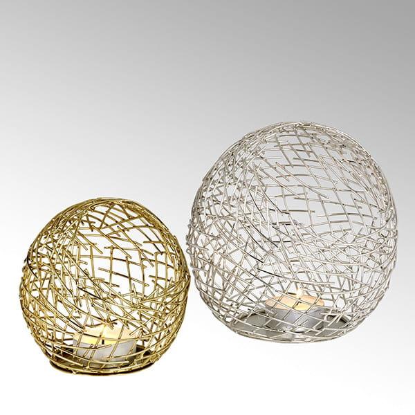 Lambert Windlicht Micado Gold / Silber - 2 Größen