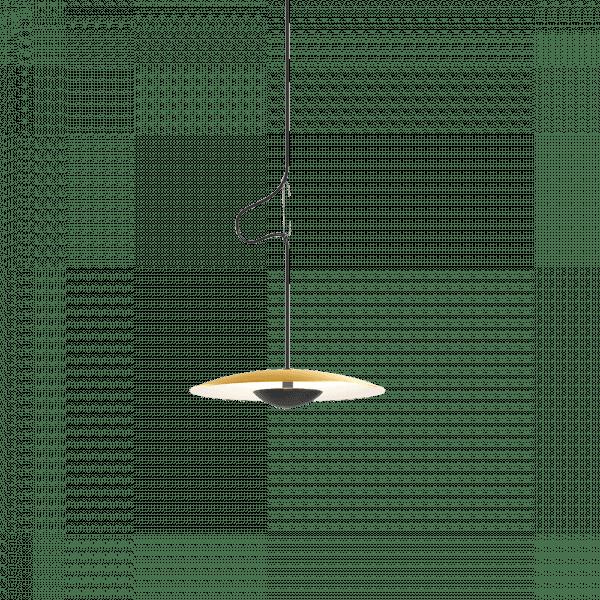 Pendelleuchte LED Ginger Messing-Weiß cut-out (Symbolbild)