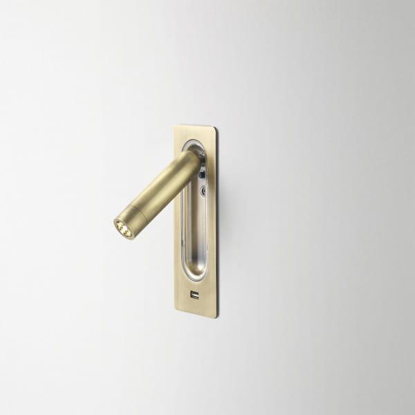 marset Wandleuchte Ledtube RSC USB Bronze installiert
