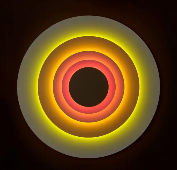 marset Wandleuchte LED Concentric Corona L Draufsicht im Dunklen