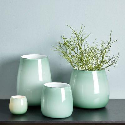 Windlicht Vase Pisano von Lambert verschiedene Größen - Jade