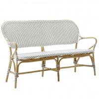 Sika Design Rattanbank Isabell mit Armlehne Weiß