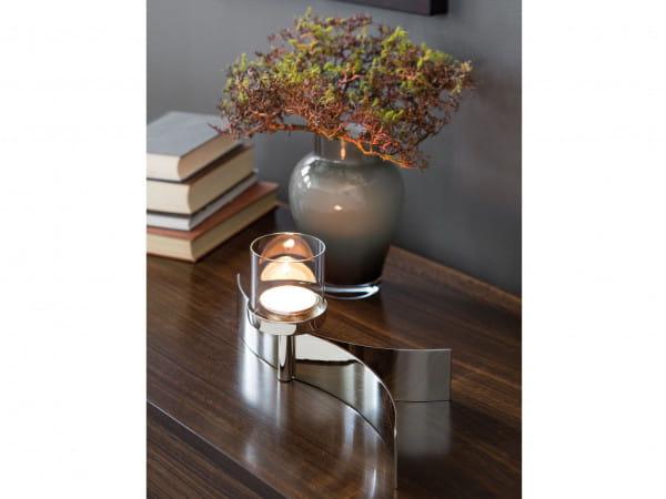 Fink Living Maxi-Tischleuchter Melody mit Glas - 1-flammig, Ambiente