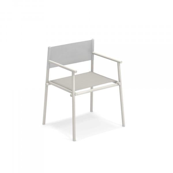 emu Outdoor Stuhl Terramare mit Armlehne - 23-200/92 Weiß - Hellgrau