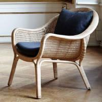 Sika Design Icons Loungesessel Madame aus Rattan mit Kissen