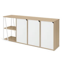 Temahome Sideboard Albi - Eiche / Weiß, Rückseite