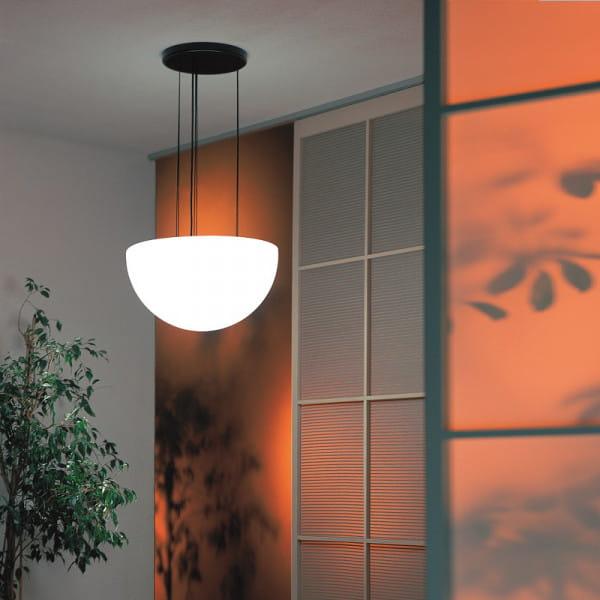 Moonlight Halbkugel Hängeleuchte MHH Weiß Ambiente Indoor Orange Wand