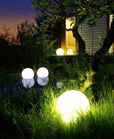 Moonlight MWV Schwimmleuchte Ambiente Haus Teich Schilf