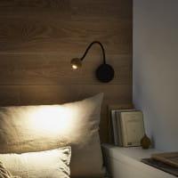 marset Wandleuchte LED No8 Eiche Ambiente Bett