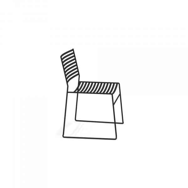 emu Aero Loungesessel - 24 Schwarz - seitlich