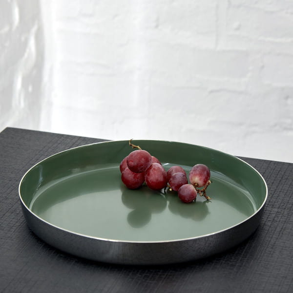 Lambert Tablett rund Malmö - Schilf - Durchmesser 30 cm