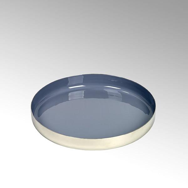 Lambert Tablett rund Malmö - Grau - Durchmesser 30 cm