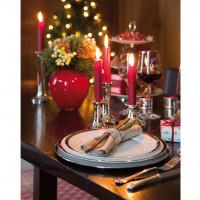 Fink Living Platzteller Platinum - weihnachtliches Ambiente