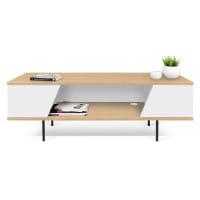 Temahome TV-Tisch Dixie - Eiche / Weiß, dekoriert