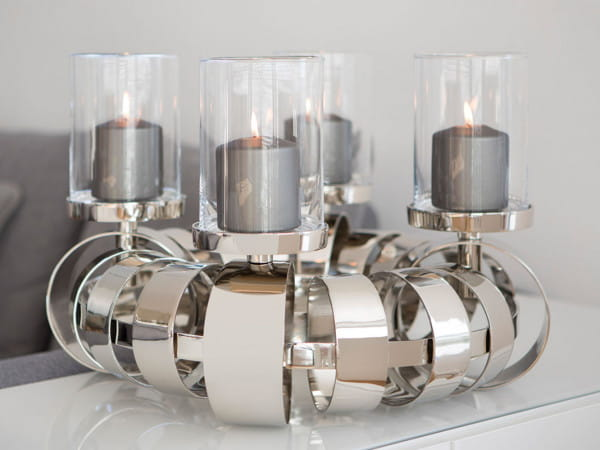 Fink Living Kerzenleuchter Anello - 50 cm, Ambiente Kerzen & Glasaufsätze