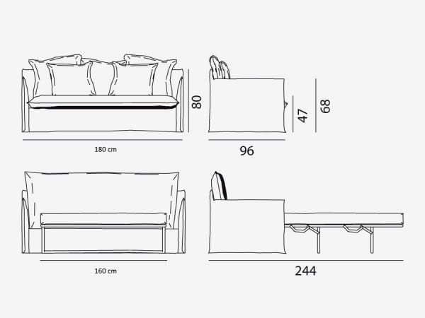 Schlaf-Sofa Ghost 13