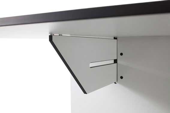 conmoto ausziehbarer Esstisch Riva Weiß 200x80/344cm Detail Verriegelung