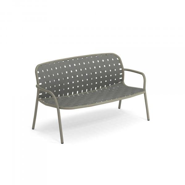 emu Outdoor Sofa Yard 2-Sitzer (stapelbar) - 37-64 Hellgrau - Grau/Grün