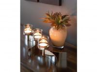 Fink Living Maxi-Tischleuchter Melody mit Glas - 3-flammig, Ambiente