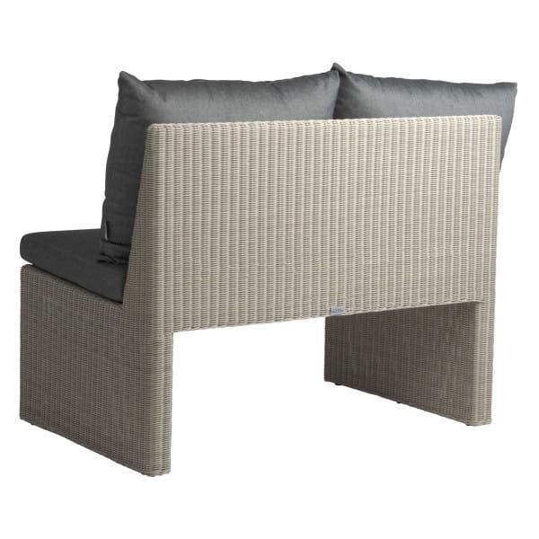 Stern 2-Sitzer-Bank Noel - Vintage Weiß / Seidengrau, Rückseite