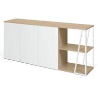 Temahome Sideboard Albi - Eiche / Weiß, seitlich