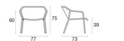 emu Darwin Loungesessel - Maße