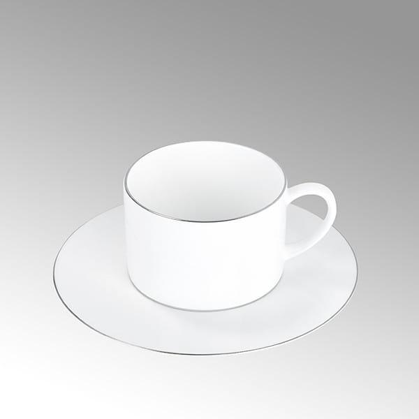 Lambert Tasse Serene Weiß mit Platinrand