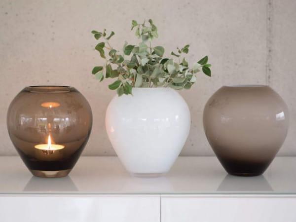 Fink Living Glasvase Livia - Weiß, Ambiente