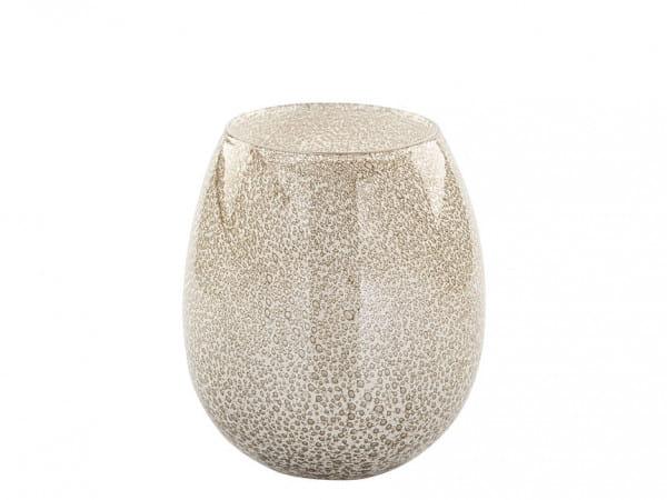 Fink Living Vase/Windlicht Silva - Creme - 17,5 cm hoch