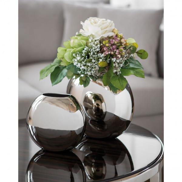 Fink Living vernickelte Vase Luna - Ambiente