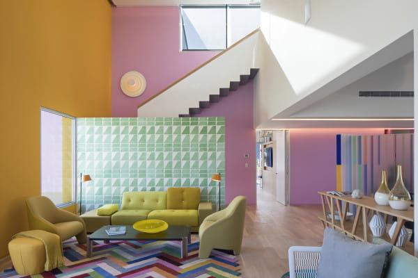 marset Wandleuchte LED Concentric Corona Ambiente Candy Color Haus