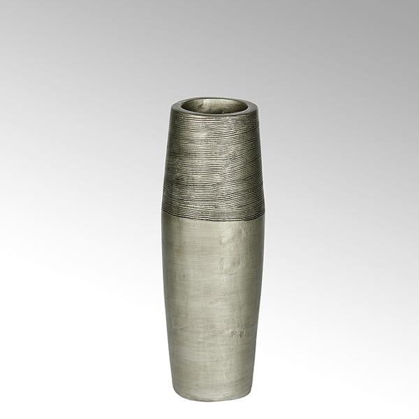 Lambert Gefäß Kamara Keramik silber H66cm D19cm