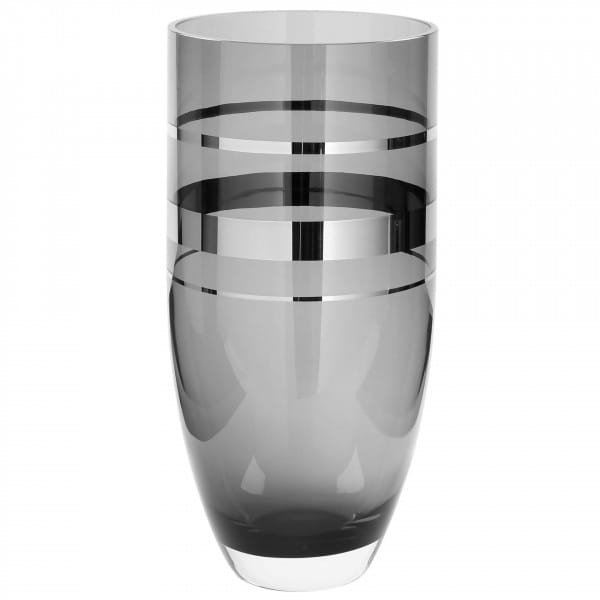 Fink Living Glasvase Riva - Grau, 38 cm hoch
