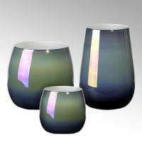 Vase Porto von Lambert Petrol Metallic verschiedene Größen