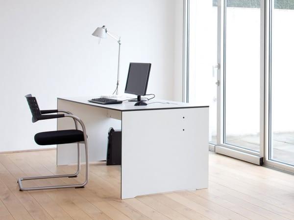 Exklusiver Schreibtisch Riva von conmoto Weiß