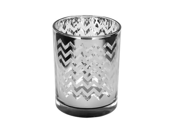 Teelichthalter Ilumi - silber/grau